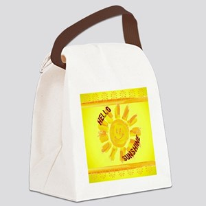 hello sunshine Canvas Lunch Bag