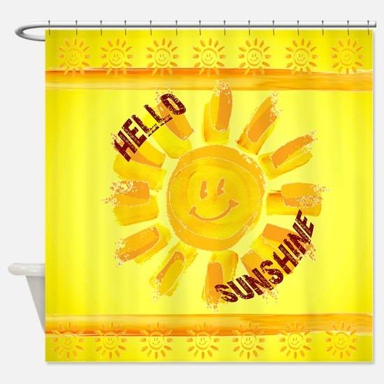 hello sunshine Shower Curtain