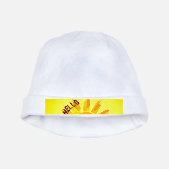 hello sunshine baby hat