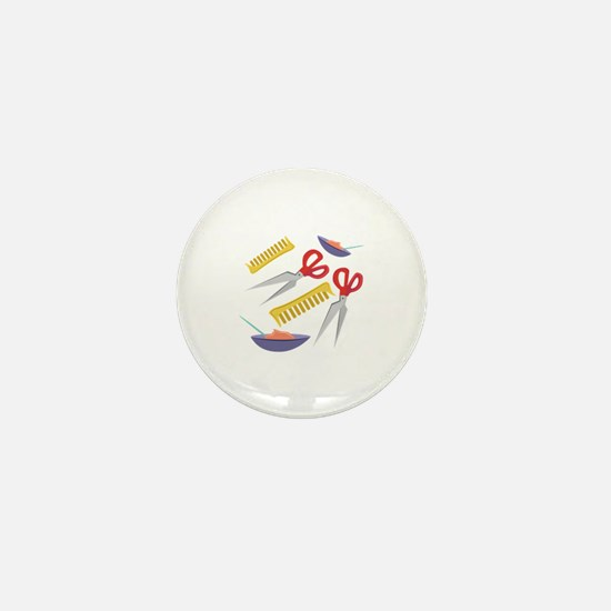 Beautician Tools Mini Button