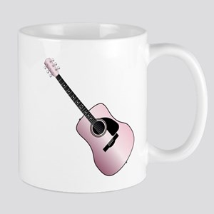 Pink Acoustic Guitar Mugs