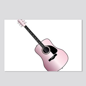 Pink Acoustic Guitar Postcards (Package of 8)