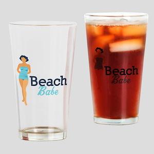 Beach Babe Drinking Glass