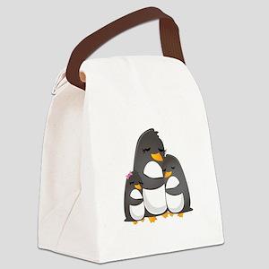 Penguins Canvas Lunch Bag