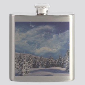Winter Landscape Flask