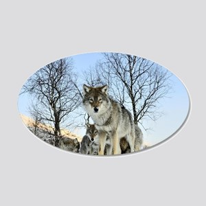 Pack Of Wolves During Winter Wall Sticker