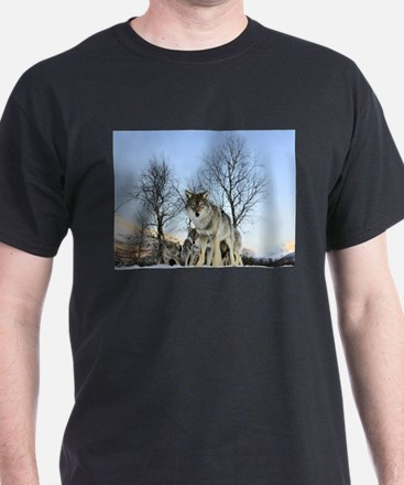 Pack Of Wolves During Winter T-Shirt