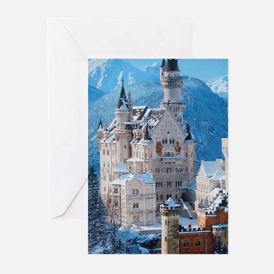 Castle In The Winter Greeting Cards