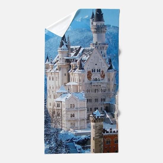 Castle In The Winter Beach Towel
