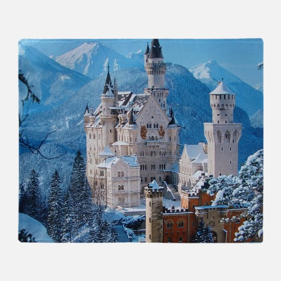 Castle In The Winter Throw Blanket