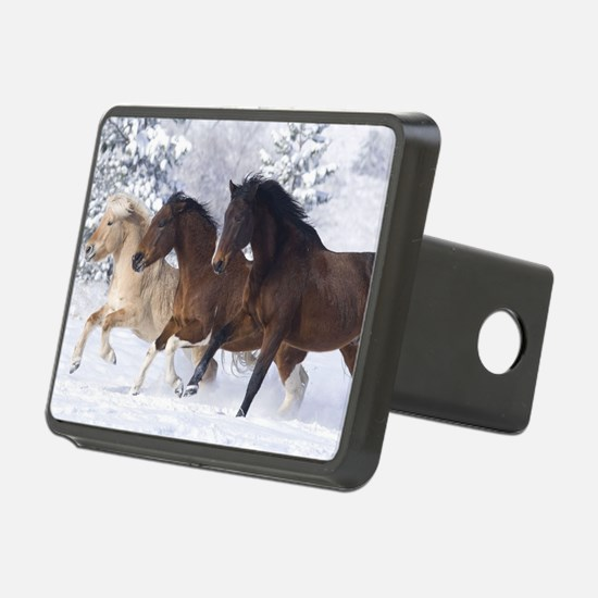 Horses Running In The Snow Hitch Cover