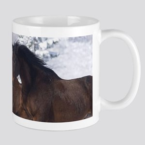 Horses Running In The Snow Mugs