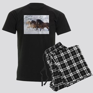 Horses Running In The Snow pajamas