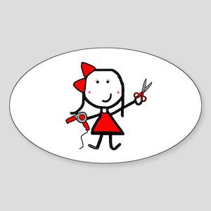 Hairstylist - Stephanie Sticker (Oval)