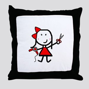 Hairstylist - Stephanie Throw Pillow