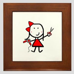 Hairstylist - Stephanie Framed Tile
