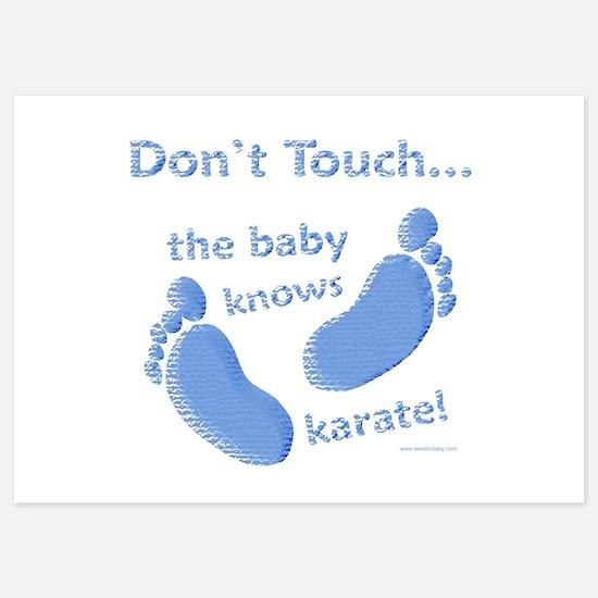 Karate Baby Invitations