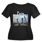 Paris Women's Plus Size Scoop Neck Dark T-Shirt