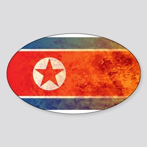 Burning North Korean Flag Sticker