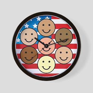 American People Wall Clock