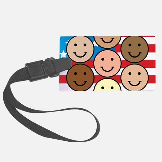 American People Luggage Tag