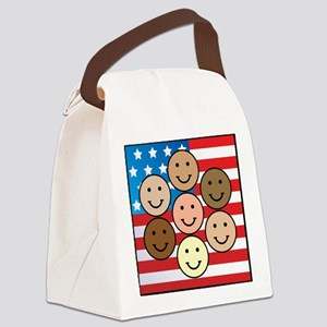 American People Canvas Lunch Bag