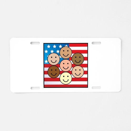 American People Aluminum License Plate