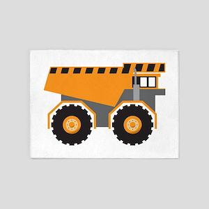 Dump Truck 5'x7'Area Rug