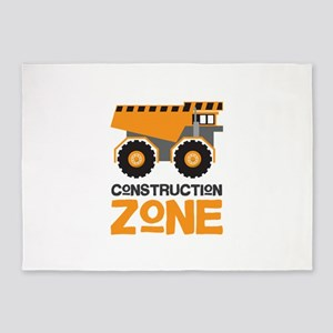 Construction Zone 5'x7'Area Rug