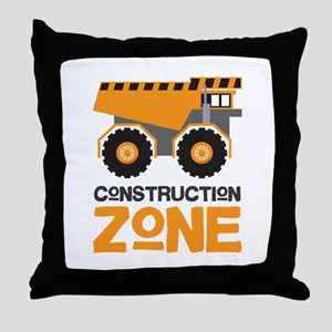 Construction Zone Throw Pillow