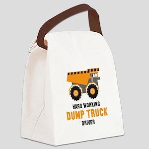 Dump Truck Driver Canvas Lunch Bag