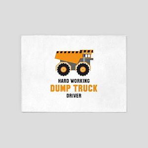 Dump Truck Driver 5'x7'Area Rug