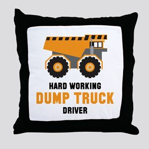 Dump Truck Driver Throw Pillow