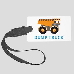 Dump Truck Luggage Tag