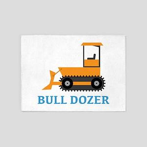 Bull Dozer 5'x7'Area Rug