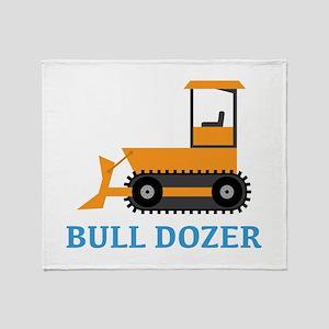 Bull Dozer Throw Blanket