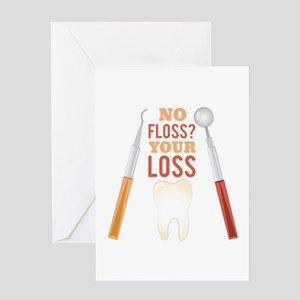 No Floss Greeting Cards