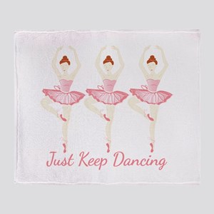 Keep Dancing Throw Blanket