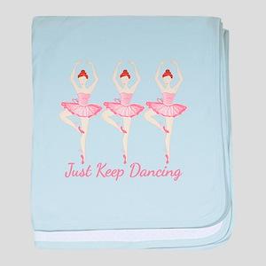 Keep Dancing baby blanket