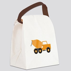 Cement Truck Canvas Lunch Bag