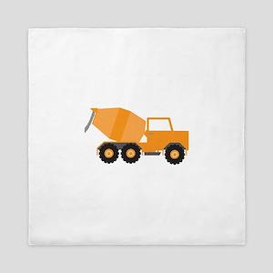 Cement Truck Queen Duvet