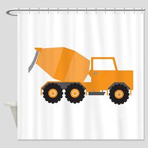 Cement Truck Shower Curtain