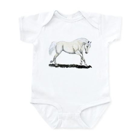 White Horse Infant Bodysuit