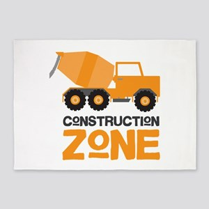 Construction Zone 5'x7'Area Rug