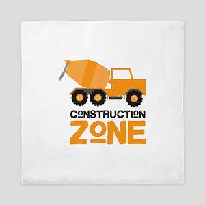 Construction Zone Queen Duvet