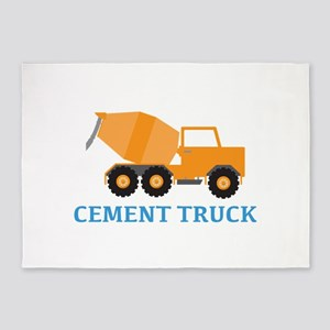 Cement Truck 5'x7'Area Rug