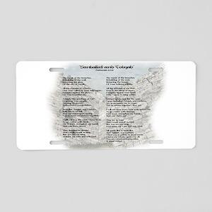 Sanballat and Tobijah Poem Aluminum License Plate