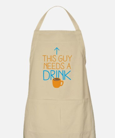 This guy needs a drink (COFFEE) Apron