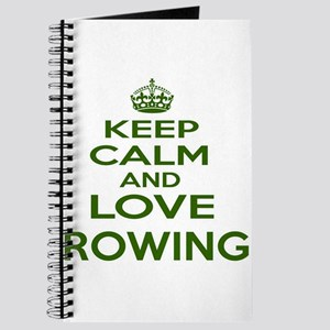 Keep calm and love Rowing Journal