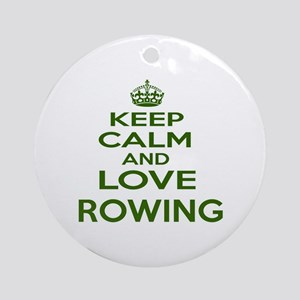 Keep calm and love Rowing Round Ornament